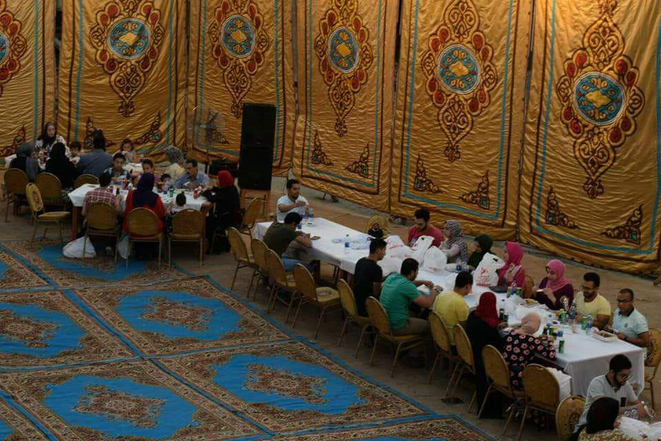 كلية التربية النوعية تنظم حفل إفطار جماعي لطلاب