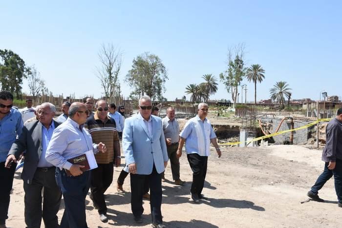 محافظ الشرقية يتابع أعمال محطة العباسة بأبو حماد