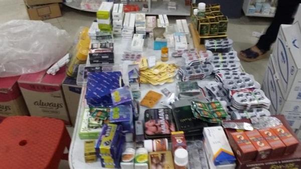 تحرير ٦ محاضر وضبط ١٠ آلاف قرص أدوية وإغلاق ٩ صيدليات