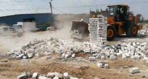 إزالة 33 حالة بناء مخالفة على الأراضي الزراعية في ههيا