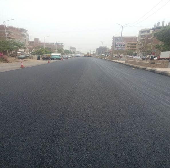 استمرار أعمال رصف طريق «العباسة - أبوحماد - أبو الأخضر» بتكلفة 95 مليون جنيه