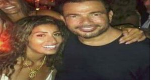 دينا الشربيني في حفل عمرو دياب