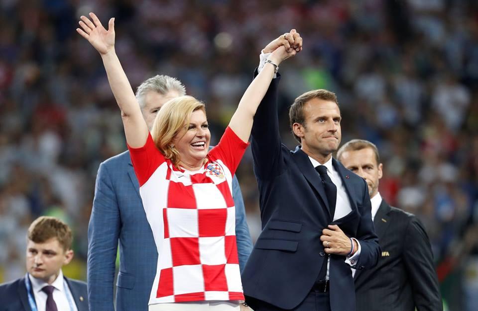 رئيسة كرواتيا بعد الهزيمة من فرنسا