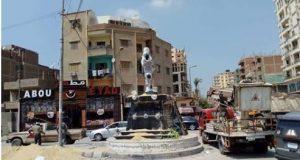 سخرية رواد التواصل من تمثال الشهيد المنسي بمنيا القمح