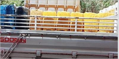 ضبط سيارة محملة 1000 كيلو زيت طعام بالإبراهيمية