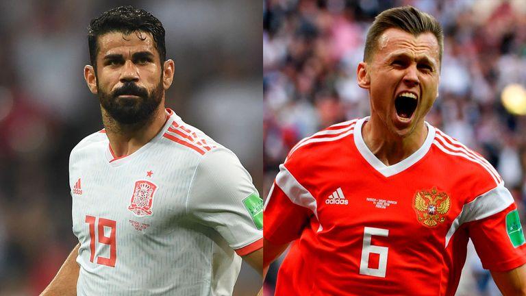 مباراة اسبانيا وروسيا