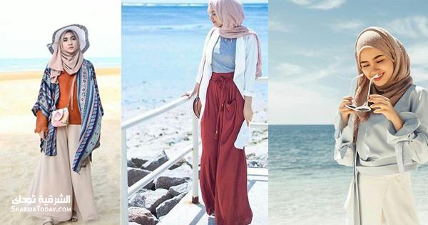 ملابس محجبات صيف 2018 للشاطئ