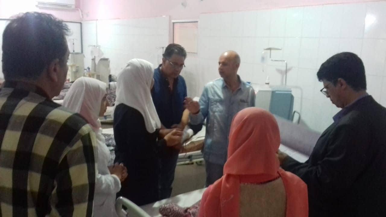 وكيل صحة الشرقية بمستشفى أولاد صقر