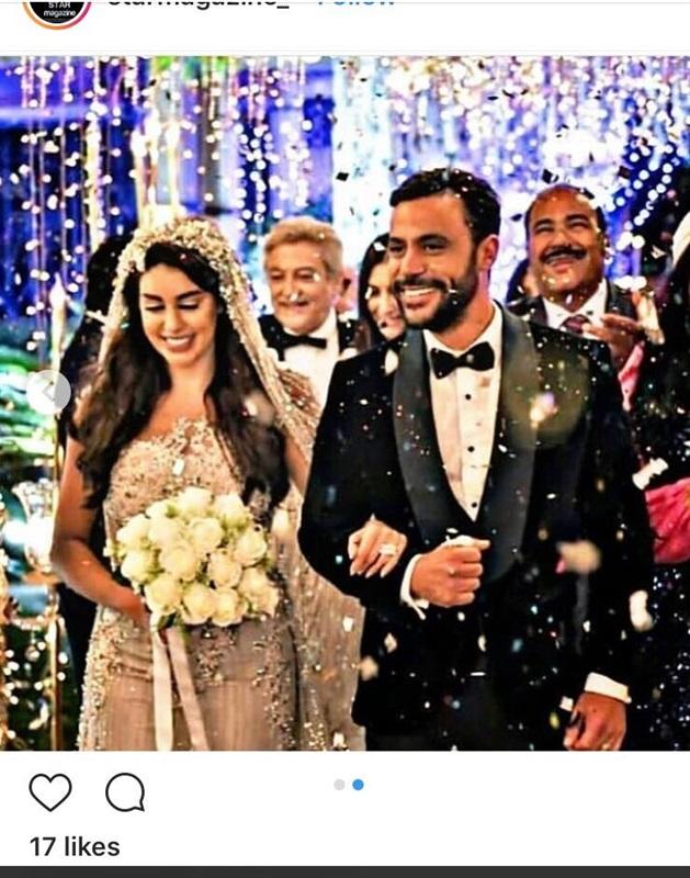 فستان زفاف ياسمين صبرى يثير ضجة