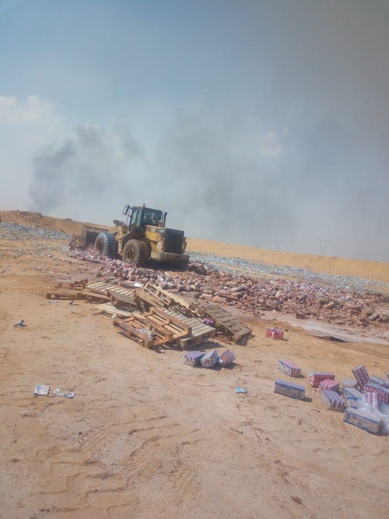 إعدام 48 طن ألبان و400كيلو أغذية بالزقازيق
