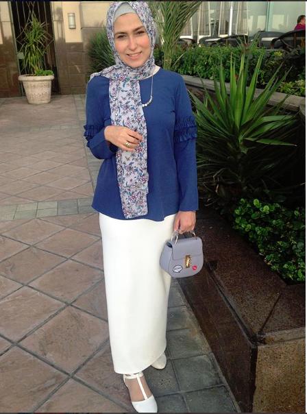 جيبة بيضاء للمحجبات من وفاء عز الدين