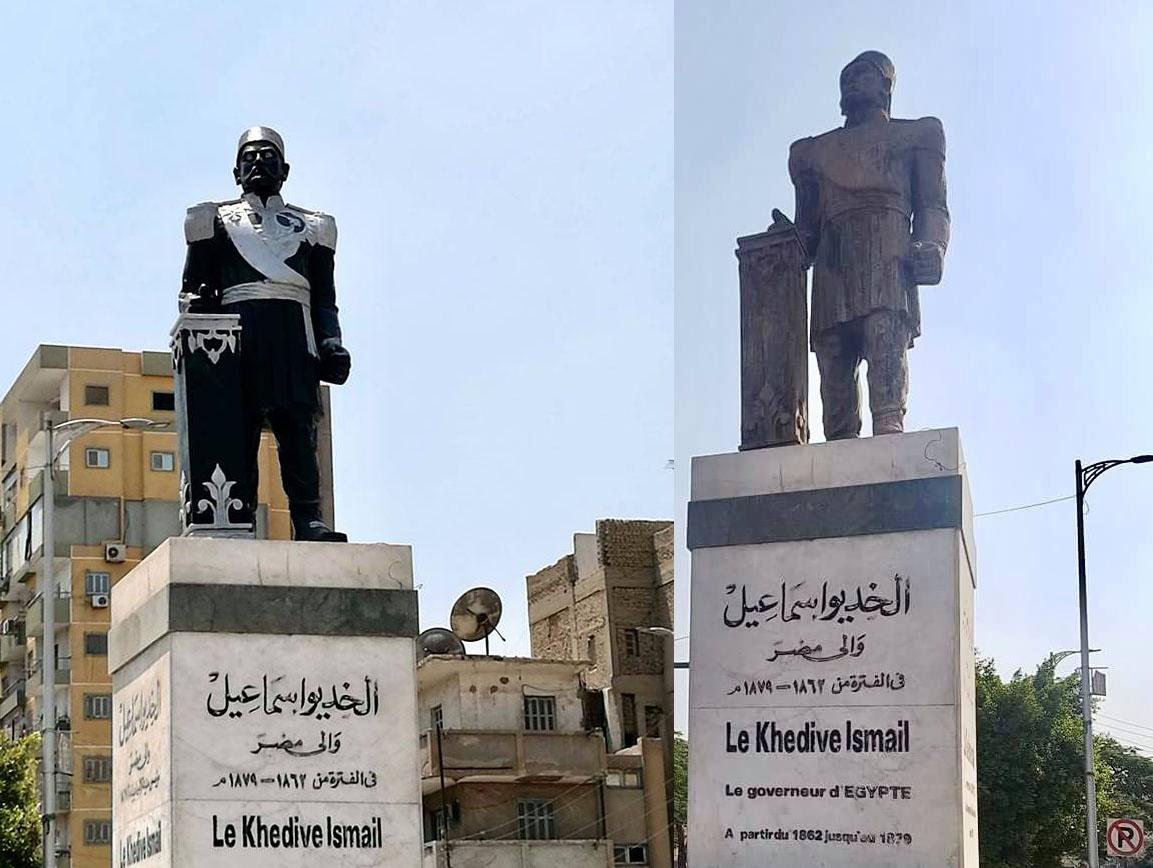 دهان تمثال الخديوي إسماعيل يثير غضب رواد التواصل