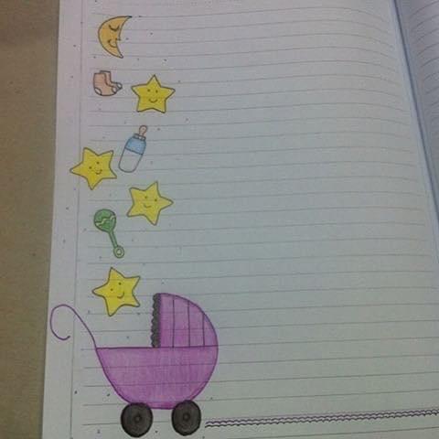 رسومات لتزين دفاتر الاطفال