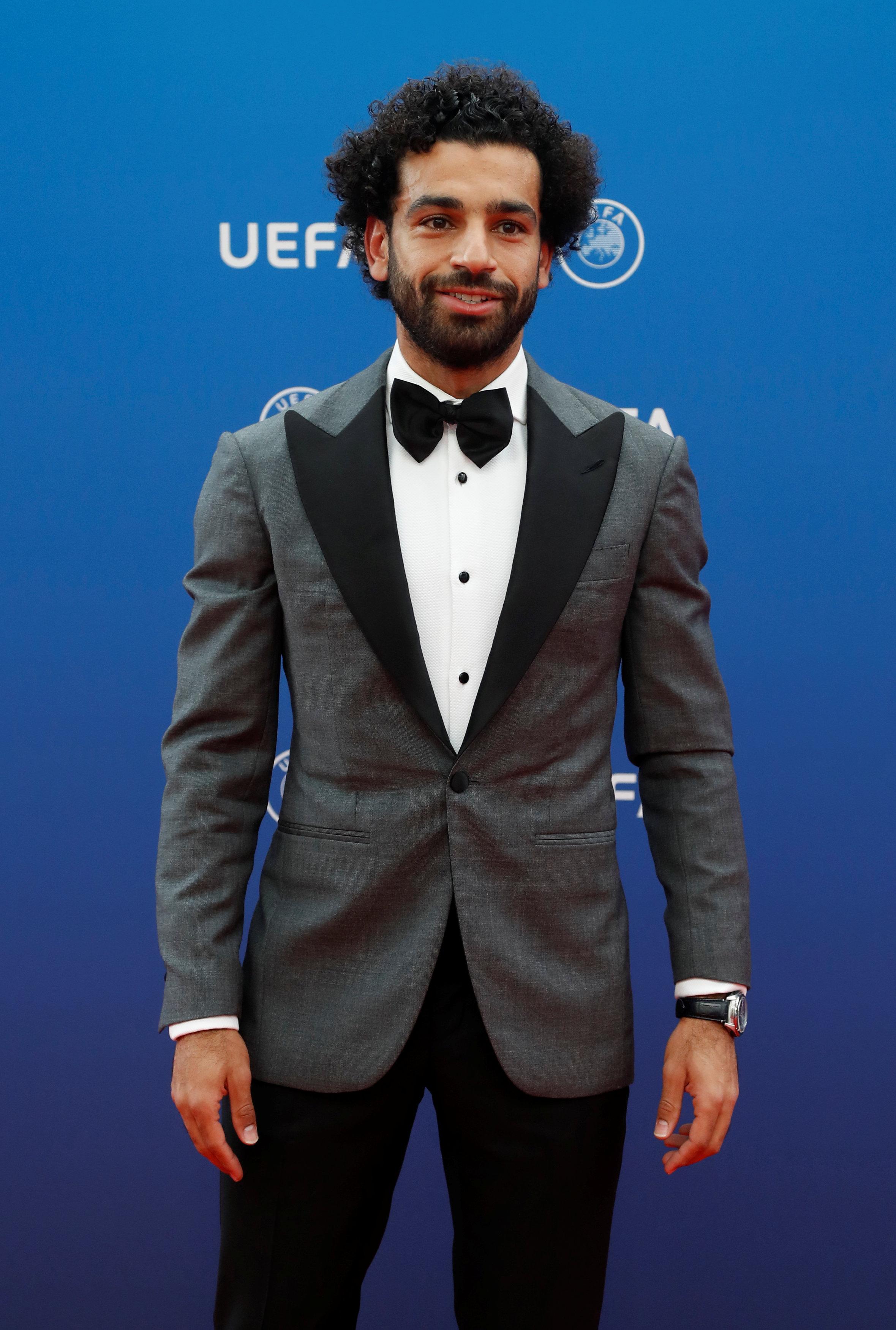 صلاح فى حفل أفضل لاعب فى أوروبا