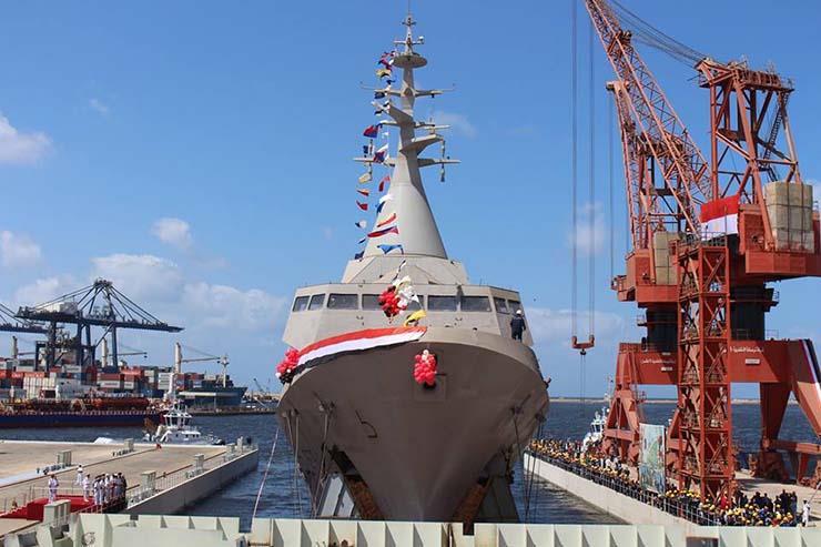 أول فرقاطة مصرية الصنع تنضم للأسطول البحري
