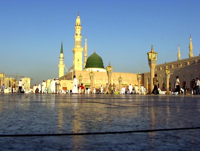 إطلاق نار فى ساحة المسجد النبوى