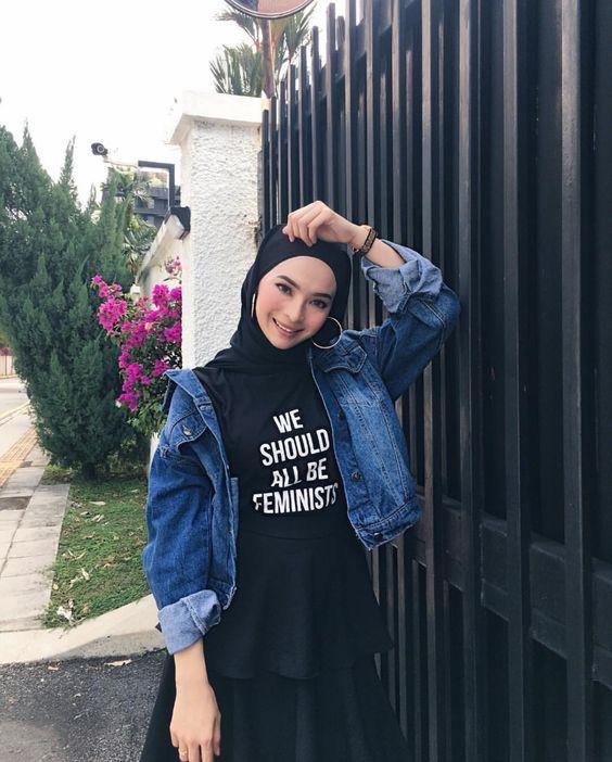 جاكيت جينز للمحجبات خريف 2018 شتاء 2019