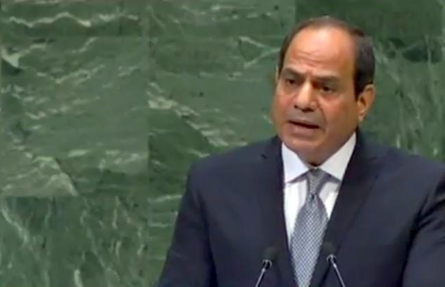 السيسي ندعم الحل السياسي في سوريا واليمن وليبيا