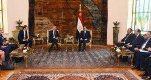 السيسي يلتقي رئيس المجلس الأوروبي