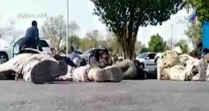لحظة الهجوم على العرض العسكري الإيراني