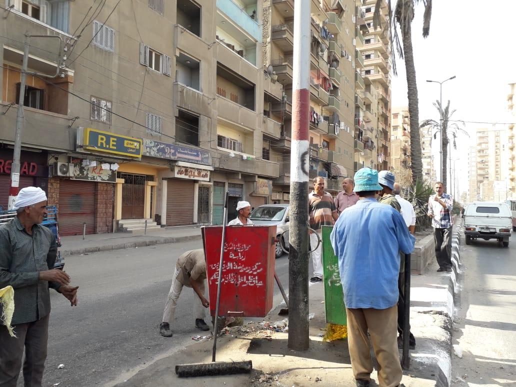 نظافة شوارع مدينة الزقازيق