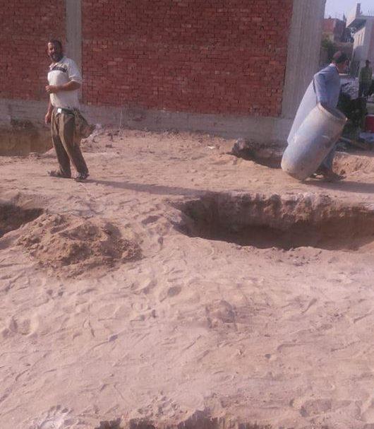 حملة لإزالة تعديات الأراضي الزراعية بقرية الهيصمية بفاقوس