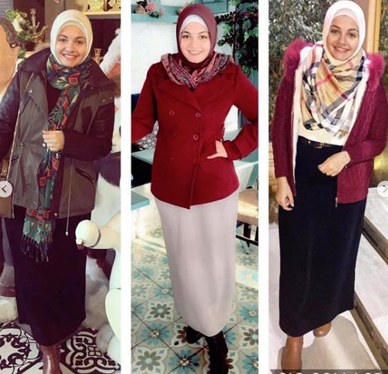 أزياء محجبات شتاء 2019 من آية فوزي
