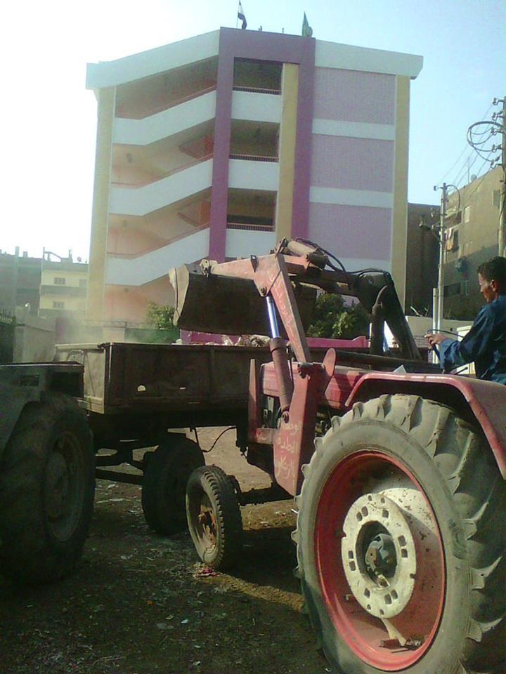 أعمال رفع القمامة من شوارع الزقازيق2