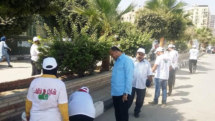 والرياضة بالشرقية تنظبم يوم تطوعي لنظافة الشوارع بالزقازيق2
