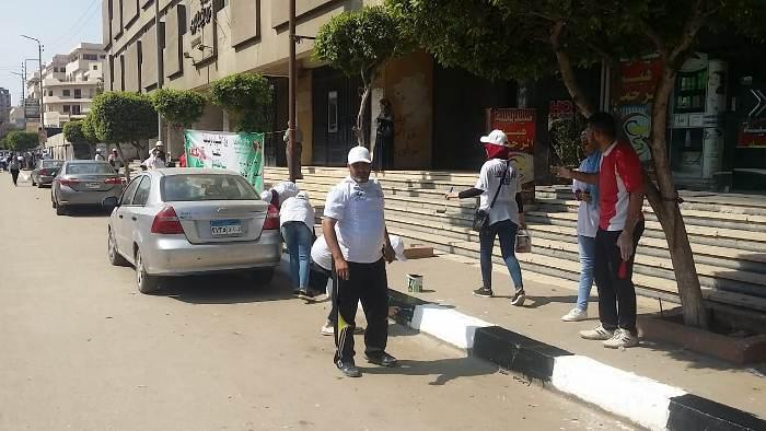 والرياضة بالشرقية تنظبم يوم تطوعي لنظافة الشوارع بالزقازيق4