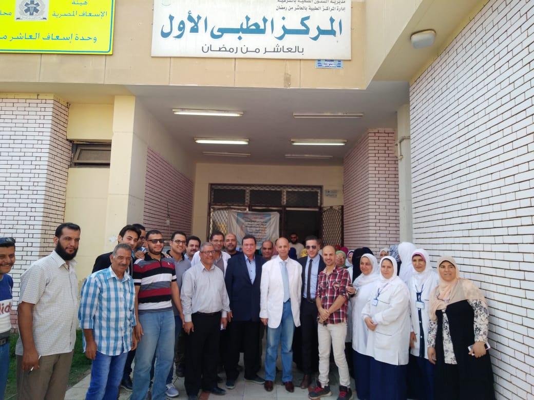 الكشف الطبي علي 1024 حالة بمركز طبي أول العاشر من رمضان