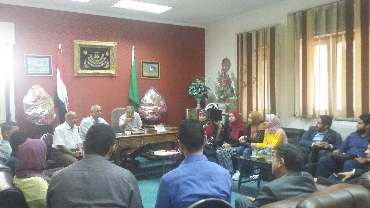 رئيس مدينة الزقازيق يستقبل أعضاء جمعية بسمة للأيواء