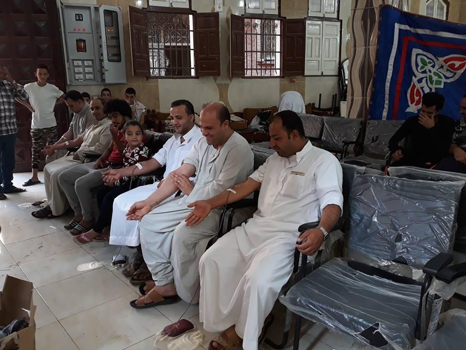 جمعية نماء تنظم حملة تبرع بالدم بالتعاون مع بنك الدم بمنيا القمح