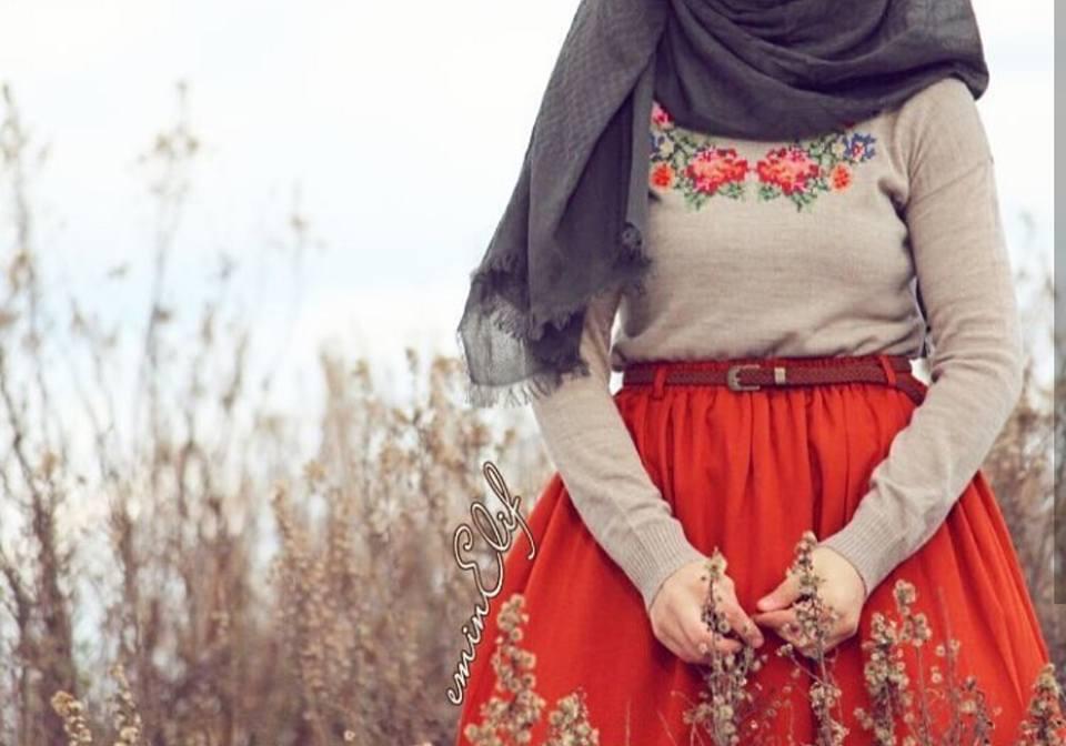 جيبة حمراء موضة شتوي 2019