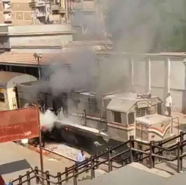 حريق بقطار «الزقازيق - أبوكبير» يثير ذعر المواطنين