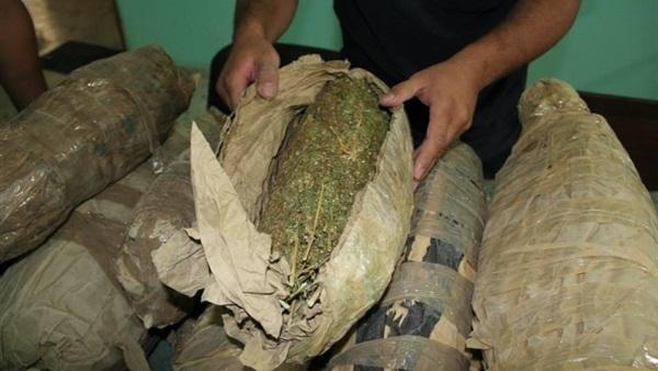 ضبط عاطلين بحوزتهما 11 لفافة بانجو بمشتول السوق