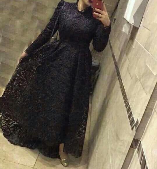فستان أسود سوريه موضة 2019