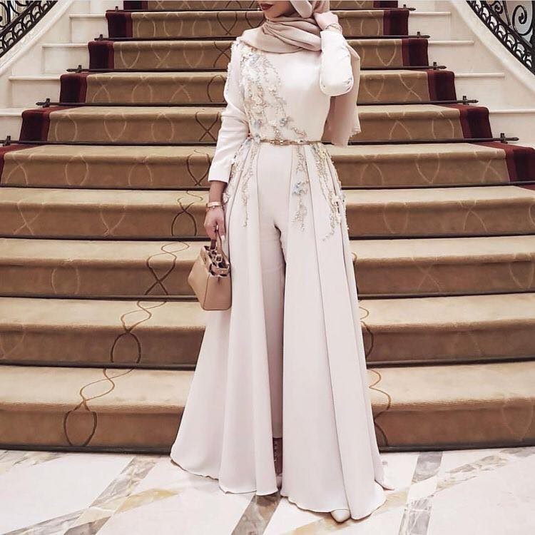 فستان سهرة للمحجبات موضة 2019