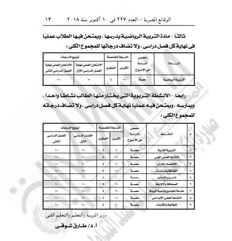 قرار وزارة التربية والتعليم