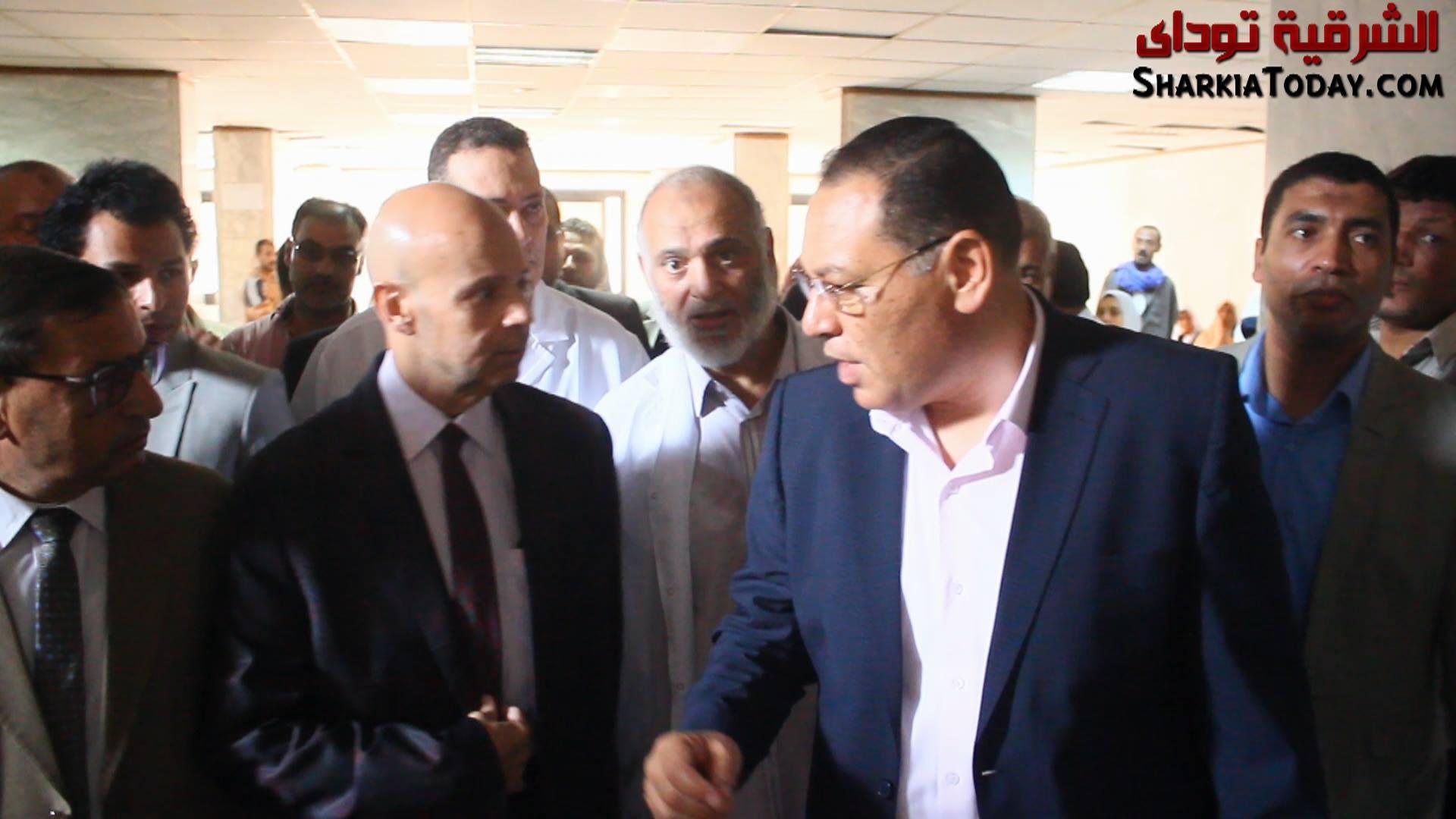 محافظ الشرقية في زيارة مفاجأة لمستشفى ديرب نجم