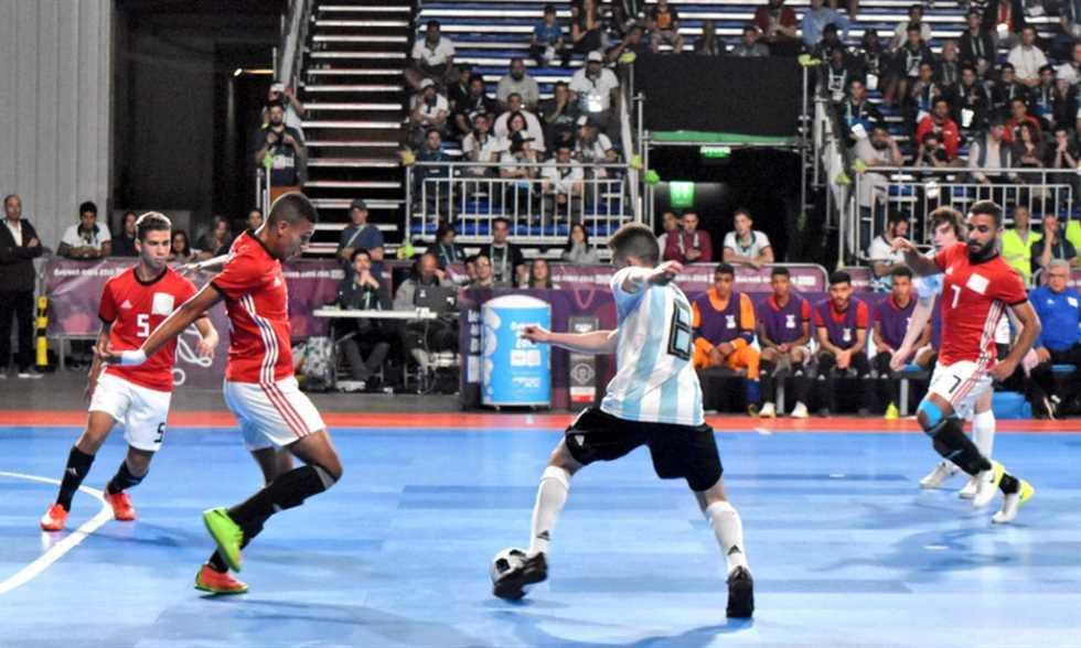 مصر تفوز على الأرجنتين وتتوج ببرونزية كرة الصالات