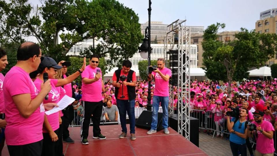 صبري تشارك في ماراثون جري بتونس للتوعية بمرض سرطان الثدي 1