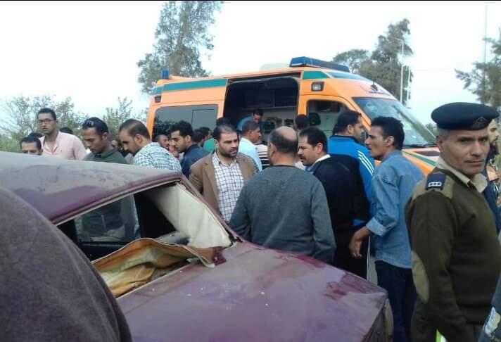 إصابة ٣ أشخاص في حادث بطريق «الزقازيق - ههيا»