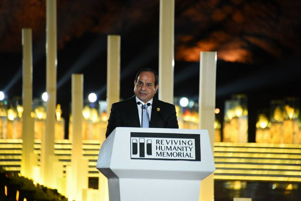 يفتتح النصب التذكارى إحياء الإنسانية بشرم الشيخ 7