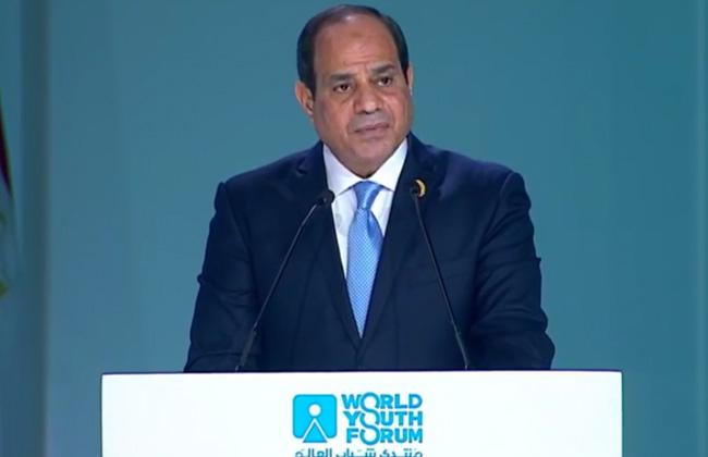 السيسي يعلن 10 قرارات في ختام منتدى شباب العالم