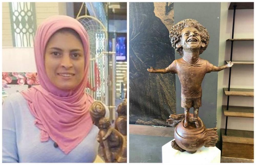 النحاتة مي عبدالله عن اتصال محمد صلاح