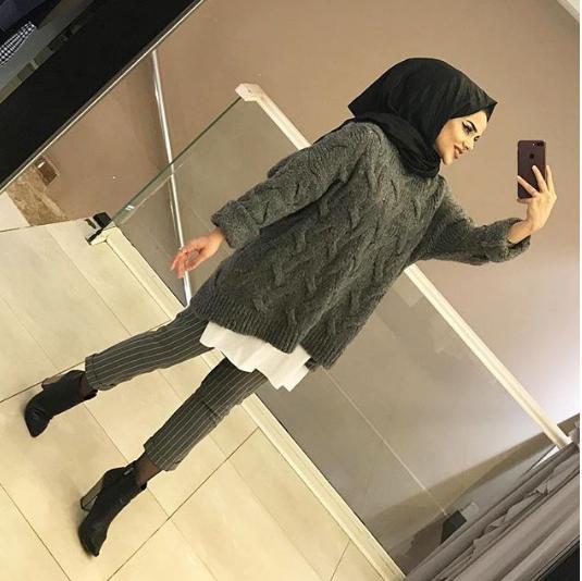 بلوزة رصاصي موضة 2019