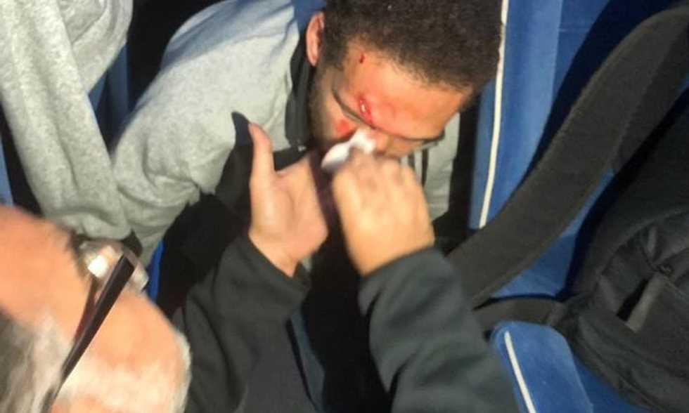 حافلة الأهلي تتعرض للاعتداء من جماهير الترجي