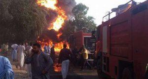 حريق هائل بمحطة وقود بالشرقية