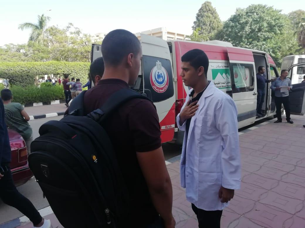 حملة تبرع بالدم بكلية التمريض